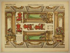 Imagerie d'Épinal, No 1557. Nouveau Théâtre Portatif a Rainures. Coulisses & Accessoires du Salon.