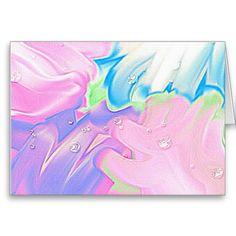 Karte Soft abstrakt pastell Tropfen