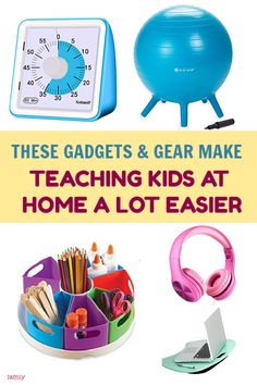 Whether you're teaching your kids at home due to current events or because you just plain prefer homeschooling, these gadgets and goodies will make your job easier. Take a look! Natural Parenting, Good Parenting, Parenting Hacks, Educational Activities, Activities For Kids, Teaching Kids, Kids Learning, Kids Planner, Trying To Get Pregnant