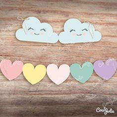 Kit Arcoiris Lluvia de Amor. Imprimible Personalizable - tienda online