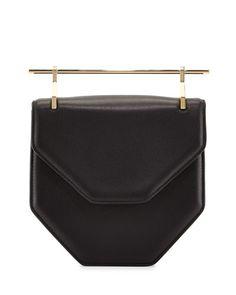 L0FBT M2Malletier Amor/Fati Leather Flap Bag, Black