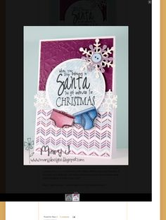 Christmas Cards 2017, Mary I, Stampin Up, Xmas, Santa, Seasons, Artwork, Work Of Art, Auguste Rodin Artwork