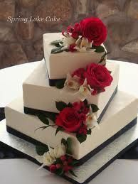 square tier cake offset