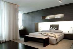minimalistisch  bett schöne Schlafzimmer Bank Design