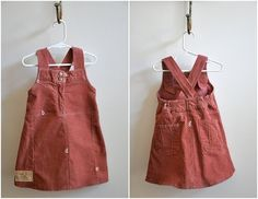 Old Pants turned into cute jumper for girls!