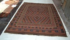 Hand Woven Antique Style Afghan Tribal Kilim Sheep Wool Rug 11'x8' Carpet Kelim  #AntiqueStyle