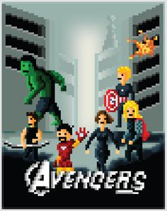 AVENGERS Pixelated Movie Poster - News - GeekTyrant