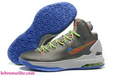 new style faa0d 86814 Energy Splatter Metallic Silver Red and Green Blue Nike Zoom KD 5 554988  300 Kevin Durant Basktball Shoes