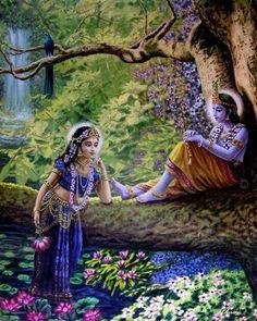 Radha and Krishna Krishna Radha, Krishna Lila, Jai Shree Krishna, Lord Krishna Images, Radha Krishna Pictures, Krishna Photos, Hindus, Yoga Lyon, Krishna Painting