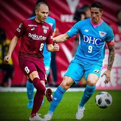 Fernando Torres and Iniesta Sagan Tosu
