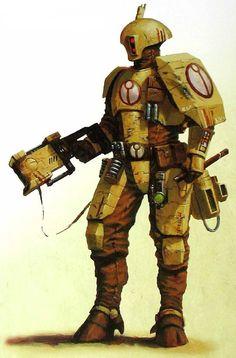 T'au Shas'ui wielding a pulse carbine.