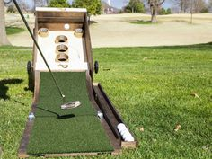 Golf and skeeball finally joined forces! The Puttskee is the world's most portable golf course. The interchangeable games make it epic.