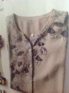 Embroidered sweater  Subtle tones, understated elegance, but just plain fabulous feeling on the skin.