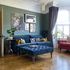 Teal Living Rooms, Cottage Living Rooms, Living Room Green, Living Room Paint, My Living Room, Home And Living, Living Room Designs, Living Room Decor, Apartment Living