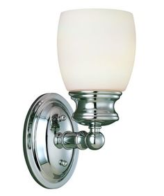 Chromed Wall Sconce With Turned Detailing And A Frosted Opal Glass Shade Product Construction Material Metal Color Polished Chrome