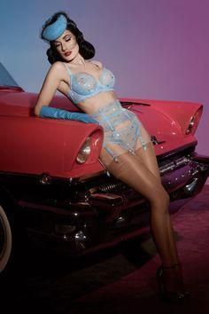 Dita Von Teese Vedette Underwire Bra Ice Blue – Rebel Romance Dita Von Teese Lingerie, Lace Lingerie Set, Sheer Bra, Old Hollywood Glamour, Beautiful Lingerie, Full Figured, 34c, Showgirls, Autos