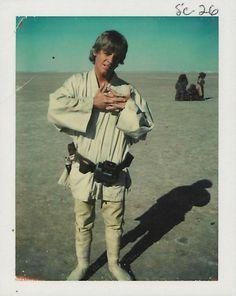 Les Polaroids nostalgiques du tournage du premier Star Wars en 1976