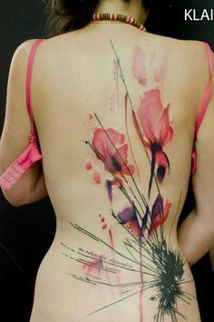 Watercolor flower tattoo picture - 50 Amazing Tattoo Pictures