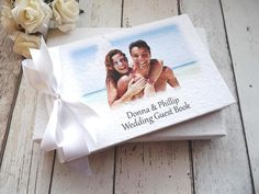 personalised wedding guest book photo album 'your photo'