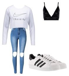 """""""Untitled #92"""" by desireelovesfashion on Polyvore featuring Boohoo, NIKE and adidas"""