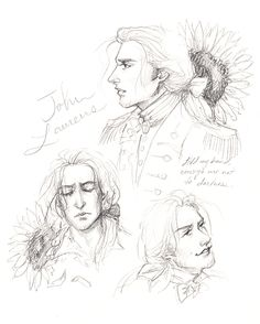 "hamiltonshorn:  ""laurens is my golden sunflower prince  ""  Your art is so! ! And that lyric is such a gut punch!"
