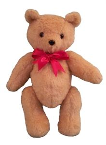 """Theodore Bears -- Handmade 16"""" classic teddy bear with a ribbon. Personalization is done in the color of the ribbon you choose."""