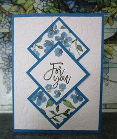 I saw a card on Pinterest using this layout. I chose different papers which made my card a different color than the one I saw. The sen...