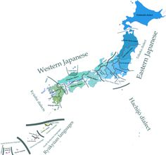 Dialectical map of the Japanese language