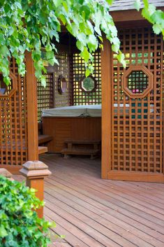 You can combine your favourite outdoor spas and hot tubs into your private relaxing area and your garden and create a little secret haven just outside your place.