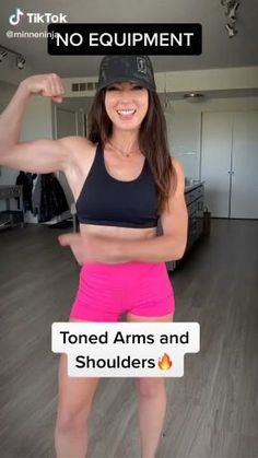 Arm Workout No Equipment, Full Body Gym Workout, Summer Body Workouts, Slim Waist Workout, Gym Workout Videos, Gym Workout For Beginners, Fitness Workout For Women, Butt Workout, Fitness Goals