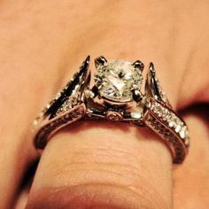 5 Gorgeous Real Girl Engagement Rings, Because Frankly, I Could Use a Little Sparkle Today! My girl Kayleigh's ring!!!