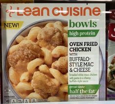 Mac And Cheese Microwave, Microwave Recipes, Mac Cheese, Oven Fried Chicken, Breaded Chicken, High Protein Recipes, Protein Foods, Lean Cuisine, Meat Chickens