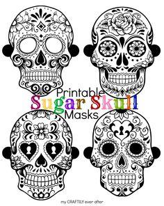 printable-sugar-skull-masks