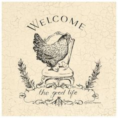 Welcome to the good life (with chickens)! Fun Crafts, Paper Crafts, Images Vintage, Motifs Animal, Chickens And Roosters, Vintage Labels, Craft Party, Vintage Prints, Framed Artwork