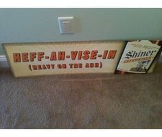 Vintage tin bar signs for dad's man-cave