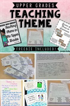Teaching Theme in the Upper Grades and a FREEBIE This post is all about teaching theme in the upper grades using task cards, anchor charts, centers, and passages. A freebie is included! 6th Grade Ela, Third Grade Reading, Middle School Reading, Fourth Grade, Sixth Grade, Reading Lessons, Reading Skills, Teaching Reading, College Teaching
