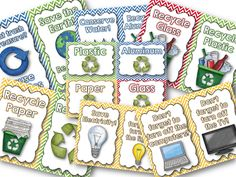 """FREE """"green"""" posters for the classroom!"""