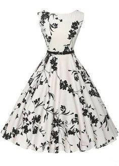 Cheap vestidos plus, Buy Quality dress vestidos directly from China vintage rockabilly dress Suppliers: Women Summer Dress 2017 plus size clothing Audrey hepburn Floral robe Retro Swing Casual Vintage Rockabilly Dresses Vestidos Pin Up Dresses, Pretty Dresses, Beautiful Dresses, Dress Outfits, 1950s Dresses, Dresses Online, Dresses Dresses, Fashion Dresses, Skater Dresses