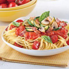 Spaghettis sauce minute aux tomates cerises et basilic - Recettes - Cuisine et nutrition - Pratico Pratique