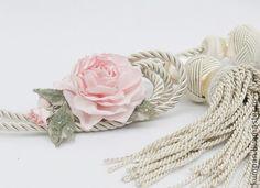 УКРАШЕНИЕ ДЛЯ ПОРТЬЕР.ROSE. - бледно-розовый,украшение для штор,подхват для штор