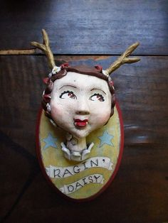 art doll sculpture - anthropomorphic deer girl for the ragin' daisy in new orleans by amber leilani middleton, via Flickr