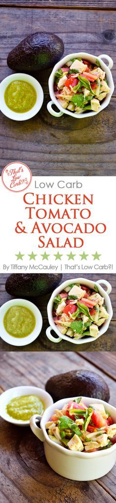 """This delicious and easy-to-make chicken salad is perfect for a hot summer evening's dinner. Packed with summer flavor, protein and good for you fats, this one is sure to become a dinner time family favorits. Makes a great """"day-after"""" lunch too! ~ www.ThatsLowCarb.com"""