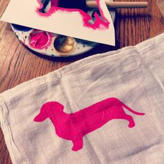 { DIY DOGGY TEA TOWEL }