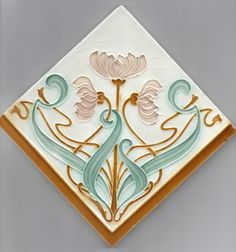 art nouveau original print flower - Google Search