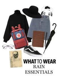 """""""Rain essentials"""" by jovaankaa on Polyvore featuring Diesel, A.P.C., Fjällräven, Off-White, Jean-Paul Gaultier and Vans"""