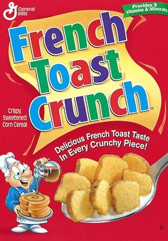 General Mills is bringing French Toast Crunch cereal back after popular demand. It feels like the all over again! French Toast Crunch, Cinnamon Toast Crunch, Kids Cereal, Crunch Cereal, Snack Recipes, Snacks, Breakfast Cereal, Breakfast Time, Kids