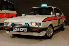 Greater Manchester Police Car Ford Capri injection - L… Ford Capri, Ford Motor Company, British Police Cars, British Car, Gta, Radios, Emergency Vehicles, Police Vehicles, Ford Vehicles