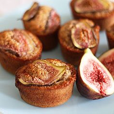 Fig, walnut and spice friands