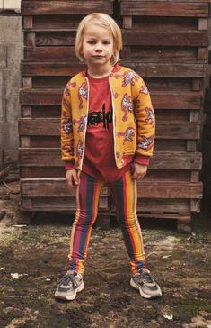 Ammehoela Kids Kaufen Sie die Look Weste + Shirt + Leggings + Rucksack, Kids Mode, Paint Stripes, Baby Vest, Leggings, Small Waist, Shirts, Tees, Stripe Print, Organic Cotton
