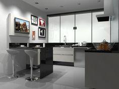 Cozinha em Melamínico Lino Bianco. 2